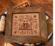 Family Friends Faith Forever Cross Stitch Chart and Free Autumn Embellishment