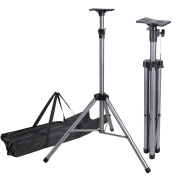 190cm Adjustable DJ Stage Light Tripod Support Universal Pair PA Speaker Stand w/ Bag 60kg Weight Capacity