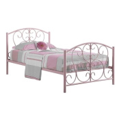 Rosebery Kids Twin Metal Bed Frame in Pink