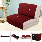 Goplus Fold Down Chair Flip Out Lounger Convertible Sleeper Bed Couch Dorm Burgundy