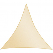ALEKO Triangular 3m x 3m x 3m Waterproof Sun Shade Sail Canopy Sun Shelter, Ivory
