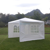 Zimtown 3mX3m Foldable Canopy Party Wedding Tent Gazebo Pavilion Shelter with 3 Removable Sidewalls