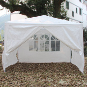 Ktaxon 3m x 3m Outdoor Canopy Party Wedding Tent White Gazebo Pavilion w/4 Side Walls