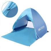 Lightweight Beach Shade Tent Sun Shelter, Automatic Pop up Instant Portable Family Anti UV Cabana