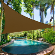Clevr Outdoor Patio UV Sun Shade Sail 3.7mx3.7mx3.7m Triangle Canopy Cover