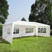Zimtown 3m x 6.1m Gazebo Canopy Party Tent w/ 4 Removable Window Side Walls - White