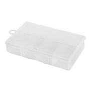 Angling Tackle Plastic 8 Compartments Fishing Lure Bait Storage Box Holder Clear