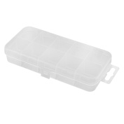 Plastic 10 Space Fishing Lure Bait Holder Storage Organiser Box Case Clear