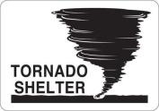 CONDOR Y4035518 Safety Sign, Tornado Shelter, Self-Adhesiv