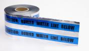 Polyethylene Underground Water Line Detectable Marking Tape, 300m Length x 15cm Width, Blue