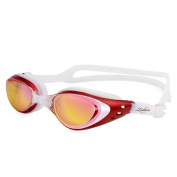 Zodaca Adjustable Eye Protect Non-Fogging Anti UV Swimming Goggle Glasses Adult Red