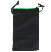 Black Velvet with Green Lining 13cm x 20cm Large Dice Bag Koplow Games