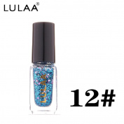 . Women Shiny Nail Art, Lotus.flower 5ml Diamond Glitter Nail Polish Sequins Nail Makeup