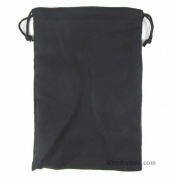 Black Micro Suede Dice Bag (15cm x 23cm ) Koplow Games
