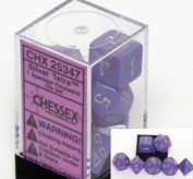 Chessex Polyhedral 7-Die Dice Set - Speckled Silver Tetra #25347
