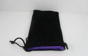 Black Velvet with Purple Lining Large Dice Bag Koplow Games