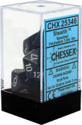 Chessex Speckled Stealth Polyhedral 7 Dice Set CHX25346