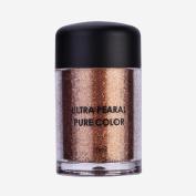 2Pcs Fashionable Glitter Loose Eyeshadow Mineral Eye Shadow Primer Beauty Eyes Pigment Powder Eye Shadow Powder Lips Powder