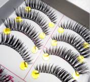 10Pair/Lot Natural Thick Fake Eyelashes 12mm