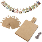 Iuhan 13Pcs Creative Happy Birthday Paper Photo Frame Wall Hanging Picture Album