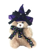 Babies First Keepsake Halloween Purple Hat Teddy Bear