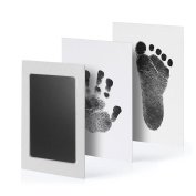 PChero Safety Baby Handprint and Footprint Ink Pad Kit, Non-Toxic and Clean-Touch, Uses for Family Keepsake Baby Shower Gift and Registry