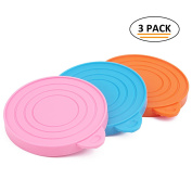 ThinkPet Food-Grade Silicone Pet Food Storage Can Lid Cover,One Fits Three Standard Sizes Can Tops