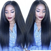 Brazilian Straight Full Lace Human Hair Wigs with Baby Hair 130% Density for Black women Remy Human Hair 36cm , natural colour