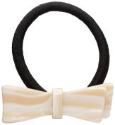 France Luxe Ribbon Bow Ponytail Holder - Alba