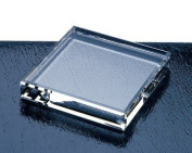 Bevelled Square Optical Crystal Paperweight