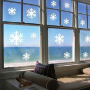 Yesido. Art Decal Wall Sticker, Snowflake Living Room Bedroom Background Removable Snowflakes Wall Stickers