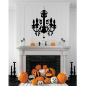 Chandelier Halloween Decorations Black Melting Candles - Halloween Fun - Fall Decor