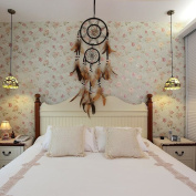 VANKER Coffee Feather Dreamcatcher Hanging Ornament for Home and Bedroom