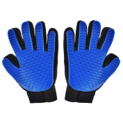 1 Pair - Pet, Dog, Cat Grooming Gloves. Pet Hair Remover Mitts. Massage Tool with Five Fingers Glove 1 Pair