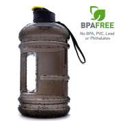 2.2l Large Capacity Sports Water Bottle Hydrate Drinking Bottle Tank Jug Container Resin Fitness BPA Free Leakproof for Bodybuilding Outdoor Sports Gym Workout Hiking & Office