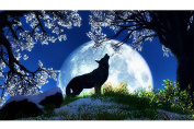 Blxecky 5D DIY Diamond Painting ,By Number Kits Crafts & Sewing Cross Stitch,Wall stickers for living room decoration,Howl