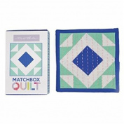 No 5~ Cobalt Blue Matchbox Quilt Kit by Moda Fabrics