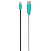 CYBER, USB charge straight cable (for New 2DS LL) black X blue 3m