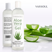 Vassoul 100% Nature Organic Aloe Vera Gel, Pure Aloe Gel For Facial Moisturiser, Acne Treatment, Acne Scars