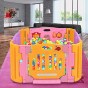 K & A Company 4 Panel Baby Playpen Kids Safety Play Centre Pink Yard Home Indoor Outdoor in Pink