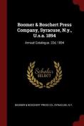 Boomer & Boschert Press Company, Syracuse, N.Y., U.S.A. 1894