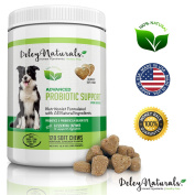 Best Probiotics for Dogs, 6 Digestive Enzymes, 4 Billion CFU's, Improves Dog Allergies, Bad Dog Breath, Dog Diarrhoea, Constipation, Gas, Yeast Infection, 100% Natural Supplement, 120 Soft Chews