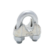 National Hardware MP3230B Wire Cable Clamp, 1.3cm , Steel U-Bolt/Nuts, Malleable Iron Saddle