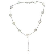 Metro Jewellery Sterling Silver and Shell Coin Pearl Necklace