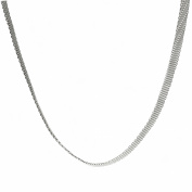 Metro Jewellery Stainless Steel 5MM mesh Chain Necklace