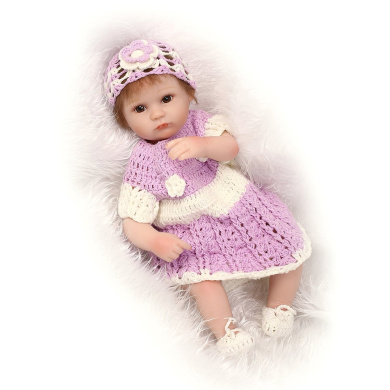 """Lovely 17"""" 42cm Real Lifelike Realistic Looking Reborn Toddler Baby Girl Doll Soft Vinyl Silicone Newborn Dolls Magnetic Mouth"""