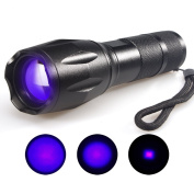 Escolite UV Flashlight Black Light,LED 395 nM Blacklight Detector for Dog Urine and Pet Stains