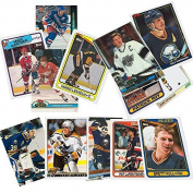 40 Hockey Hall-of-Fame and Superstar Cards Collection Including Mario Lemieux, Wayne Gretzky, Jaromir Jagr, Ray Bourque, Patrick Roy, Mats Sundin, Mark Messier, Steve Yzerman, Teemu Selanne, Brett Hull, Joe Sakic, and Nicklas Lidstrom. Ships in Protect ..