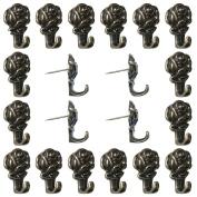 Welldoit Zinc Alloy Rose Push Pin Hanger Pack of 20