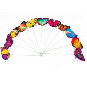 Butterflies Floral Supplies Butterfly Stake Butterflies on Sticks for Garden Ornaments or Patio Decor (Random Colour) 10 Pcs